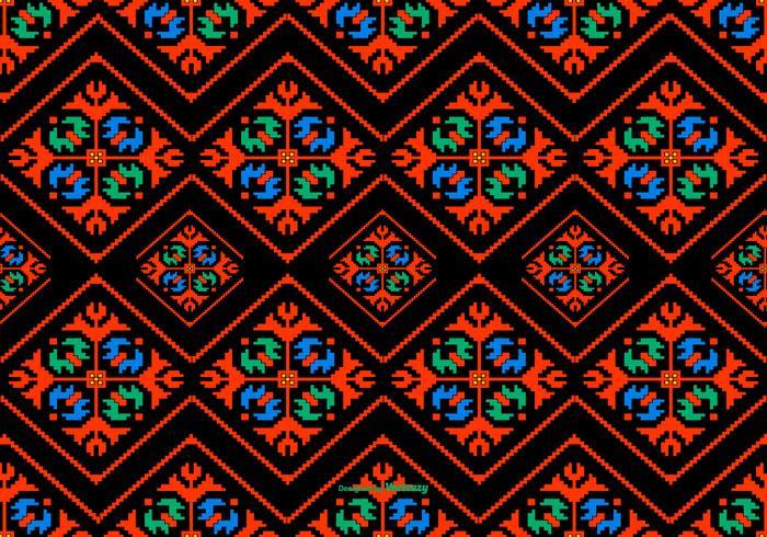 Colorful Dayak Style Pattern Background
