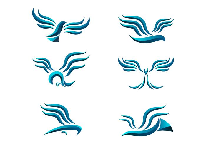 Abstract Buzzard Logo Vector