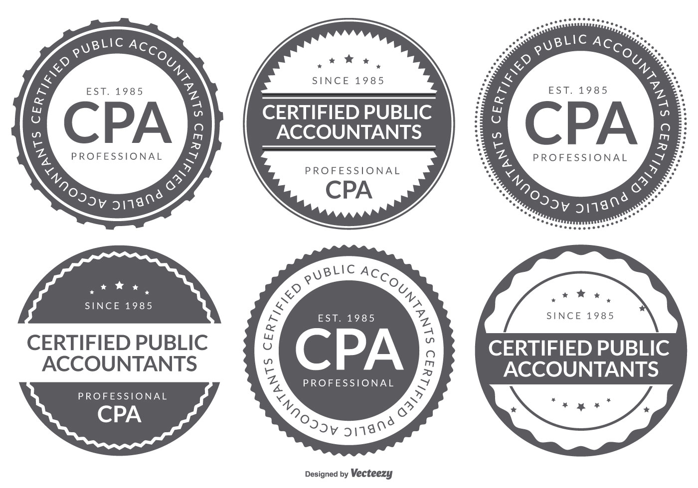 cpa certifierad offentlig revisor logotyp märkesamling ...