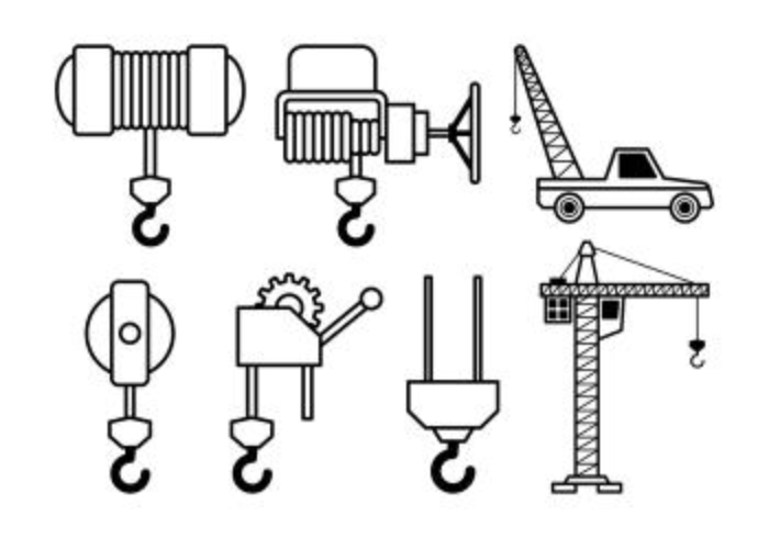 Set Of Winch Icons