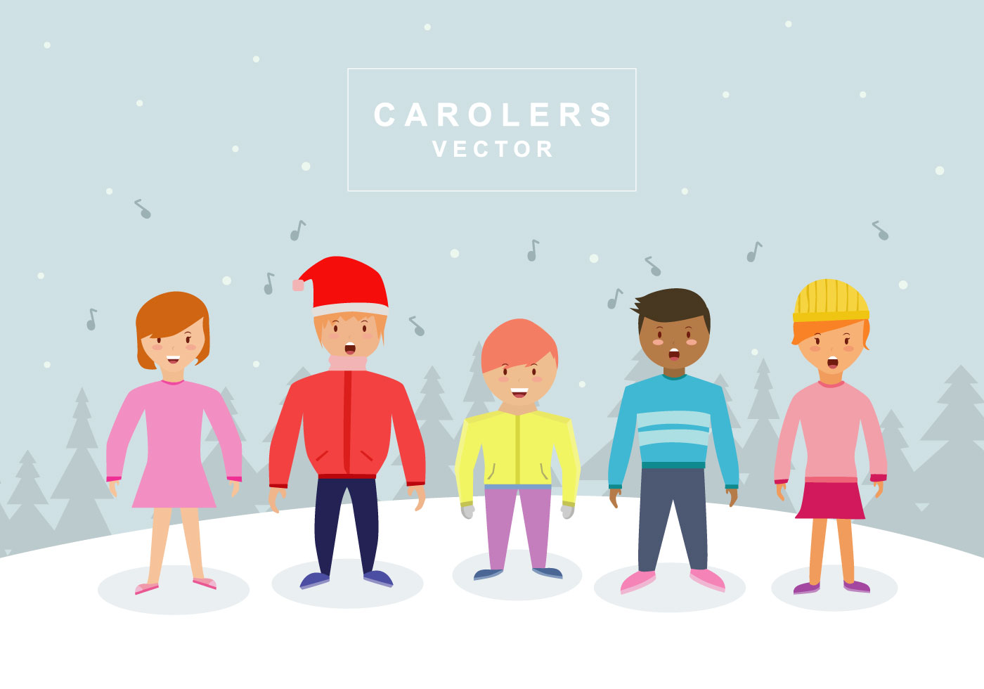 carol singers free vector art