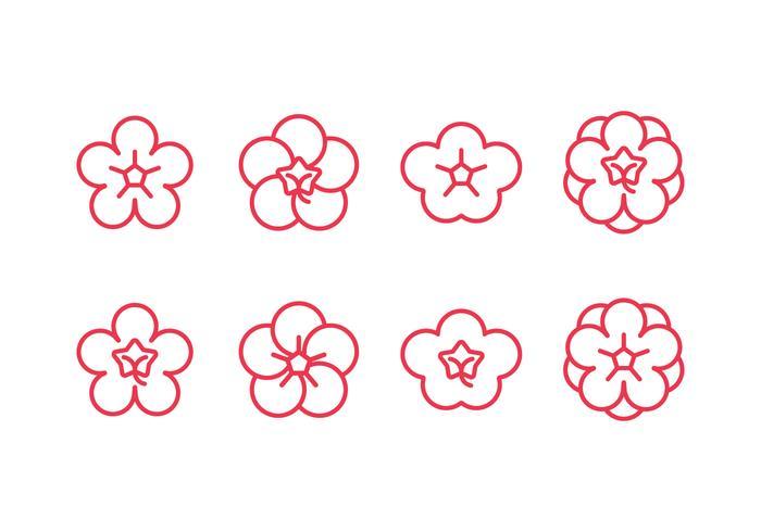 Plum blossom set icons