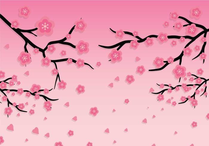 Plum blossom vector background