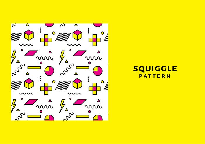 Squiggle Pattern Free Vector