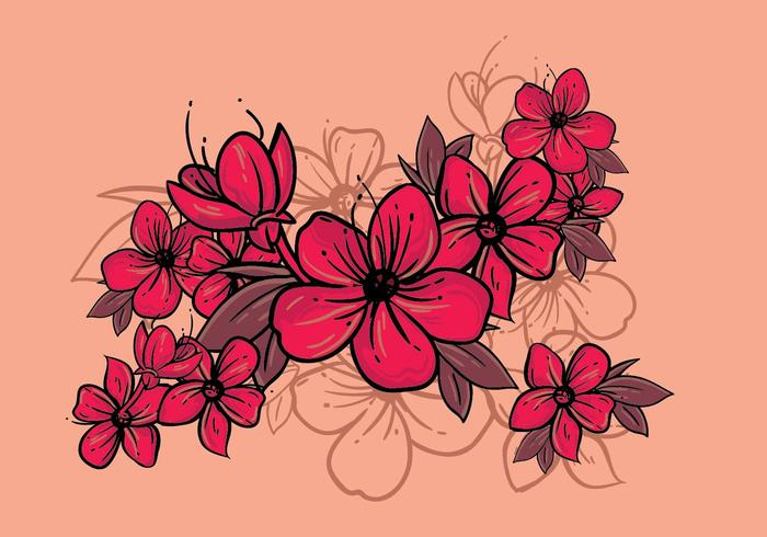 Illustration de fleur de prunier