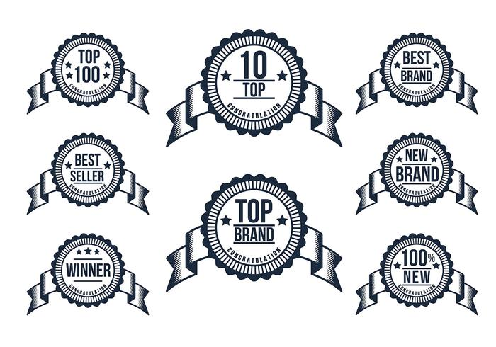 Top 10 Badge Vector Set