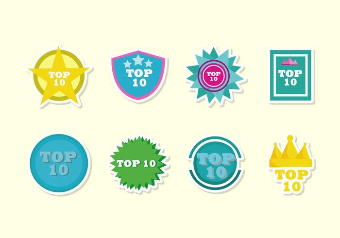 Top 10 Badge Vectorss vector