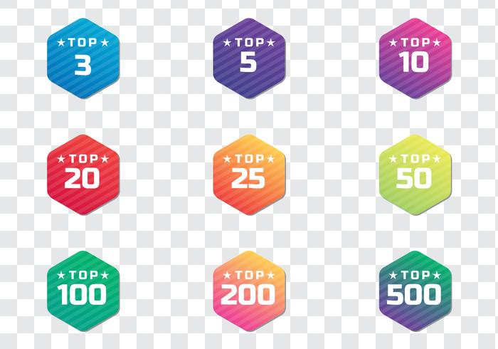 Modern Top Chart Badges