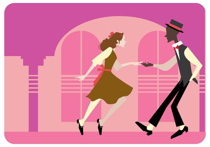 Tap Dancing Paar Vektor