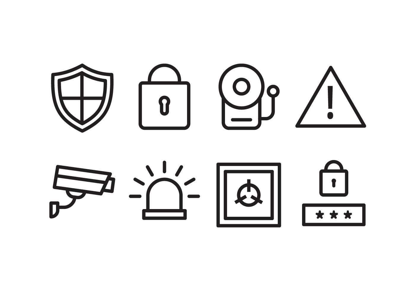 Security Icon Set Download Free Vector Art Stock