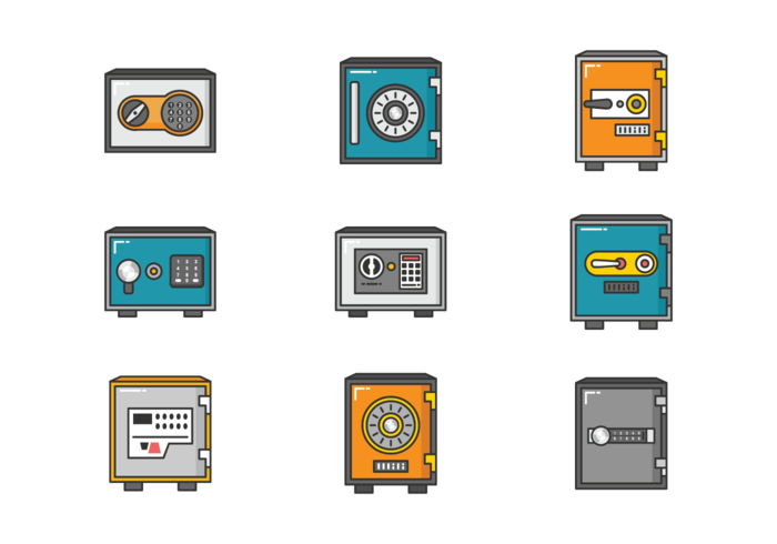 Strongbox Icons Vector