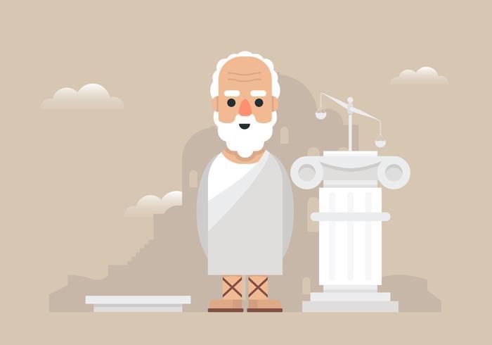 Socrates and Greece Illustration.