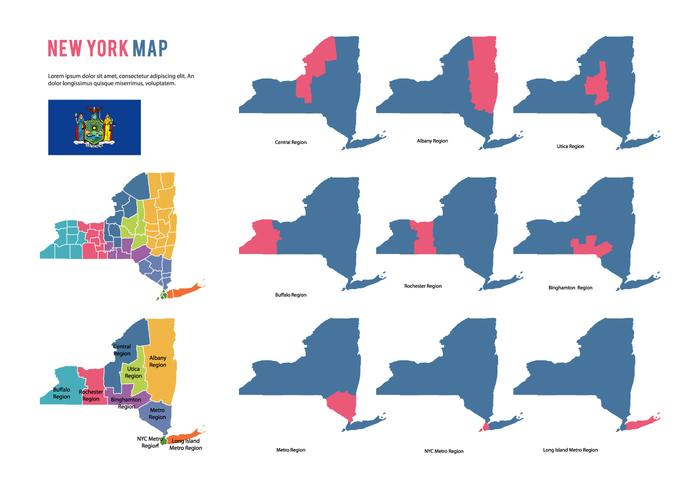 New York Map Vector