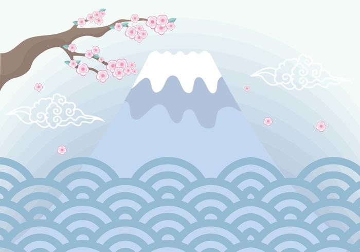 Mount Fuji Background Vector