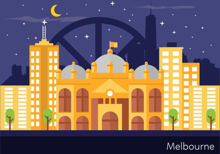 Melbourne landskaps illustration