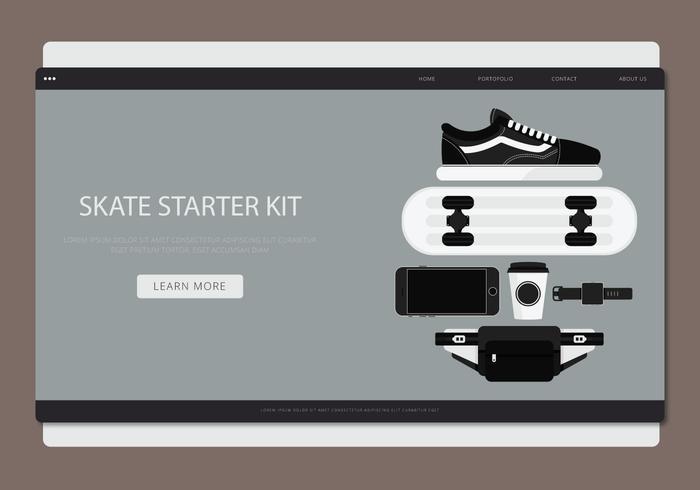 Skate Stater Pack Vector