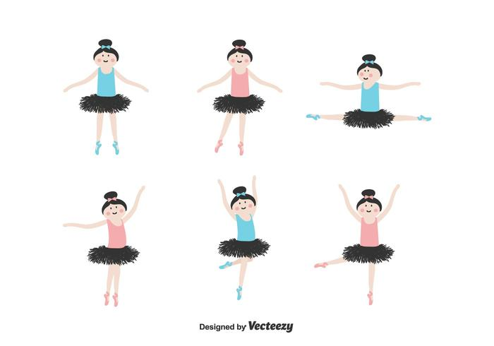 ballerina vector set