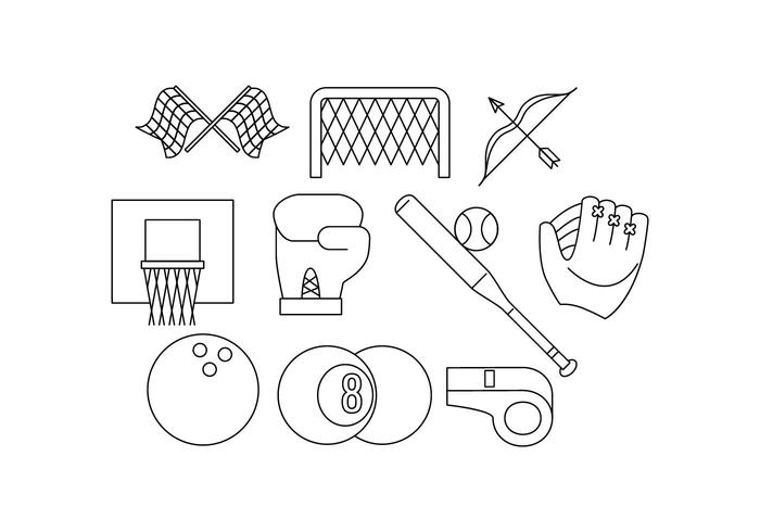 Free Sport Line Icon Vector