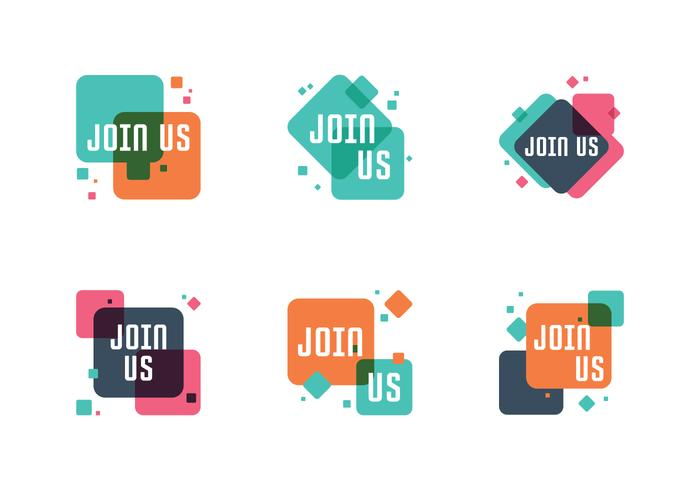 join ons badge set vector