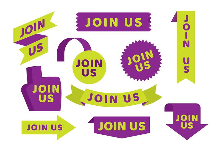 Join Us Template Free Vector