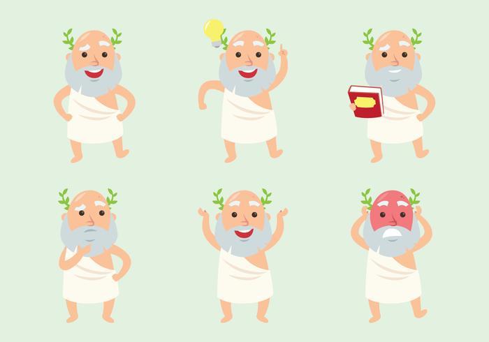 Socrates Cartoon Set