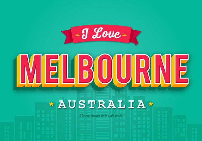 Retro Melbourne Greeting Card