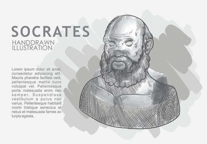 Socrate dessiné à la main