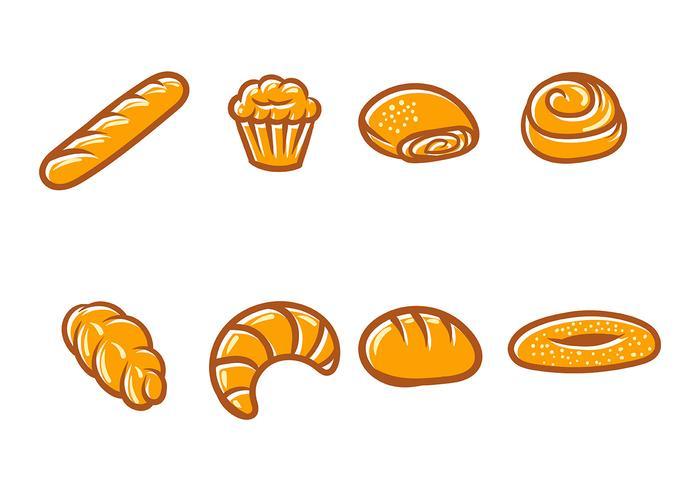 Icono de vector de pan
