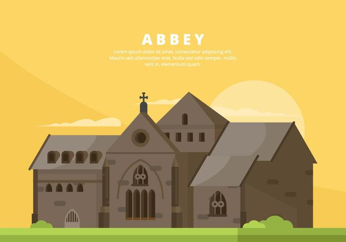 Abbey Illustration vector