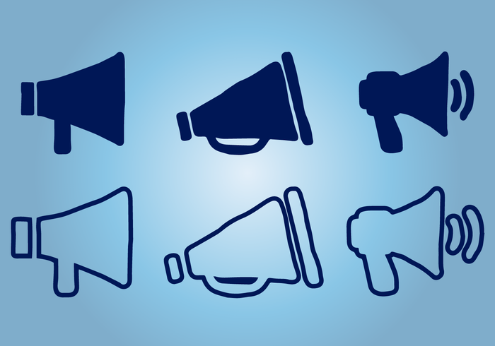 Megaphone Icons Pack Vector