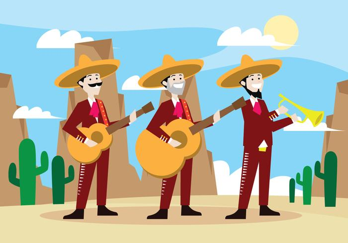 Mariachi Band Trio Vector