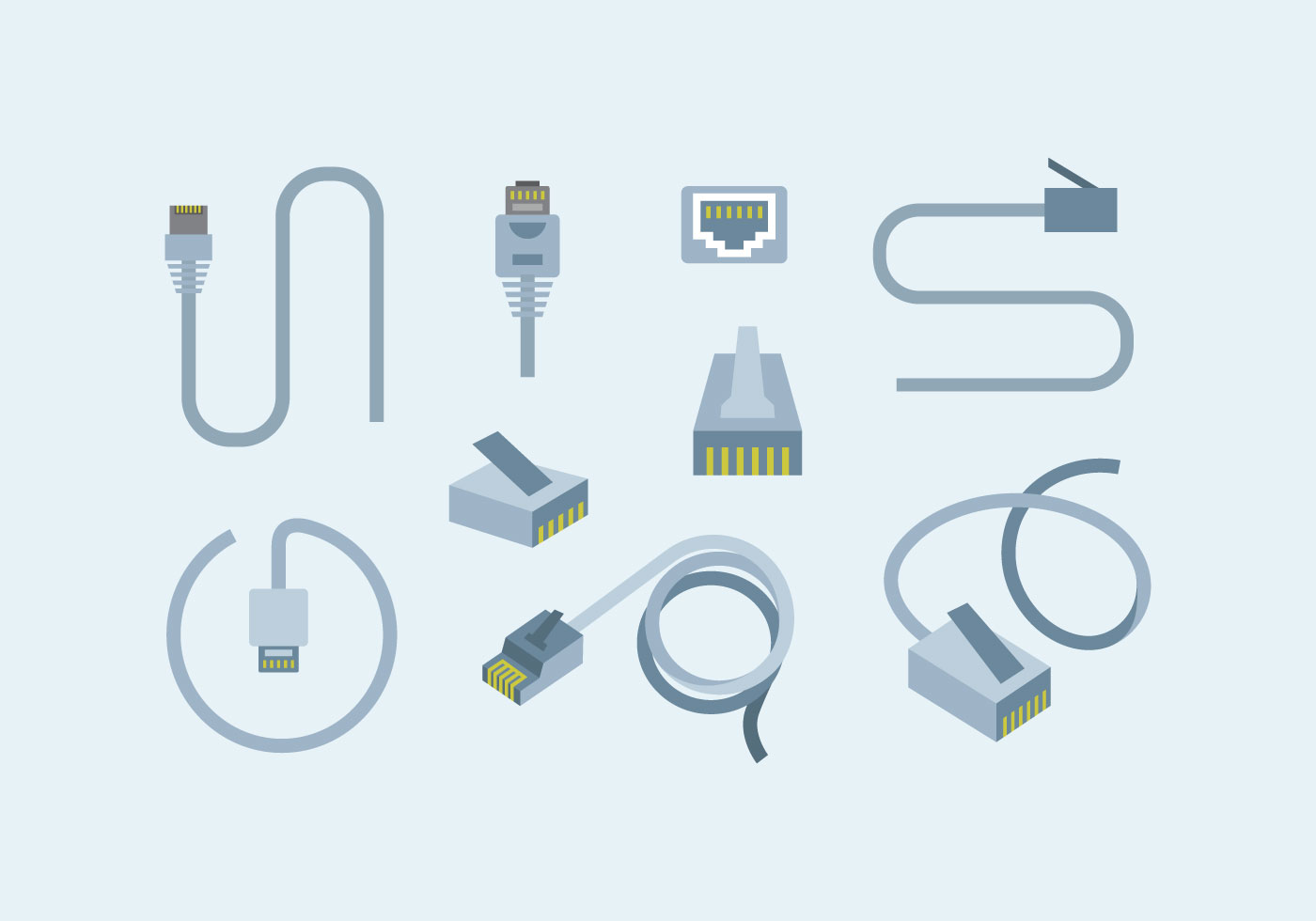 Lan Free Vector Art 175 Downloads Plug Wiring