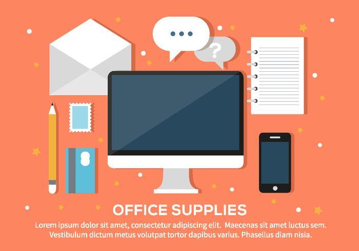 Free Office Supplies Illustration