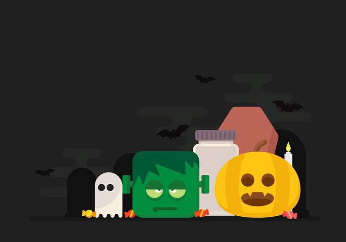 Illustrazione di figure di Halloween vettore