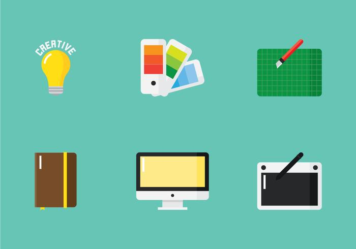 Flat Creator Icon Set