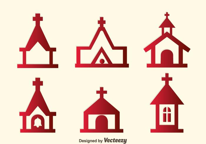 Abbey Icons Vector