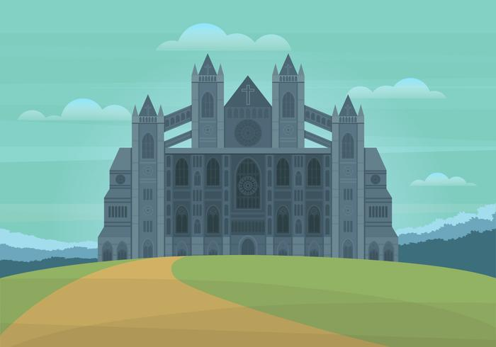 Ilustración de vector de hito de Westminster Abbey London