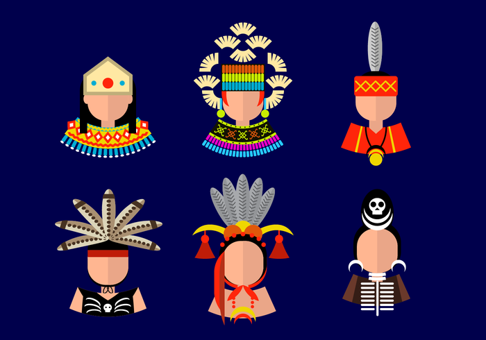 Cool Dayak Avatar Vector