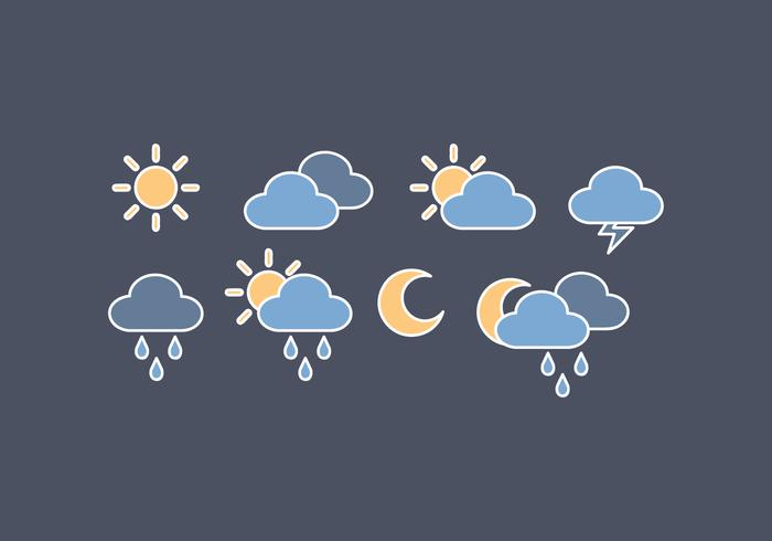 Vector Outline Weather Icons