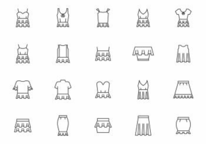Free Frills Clothing Vectors