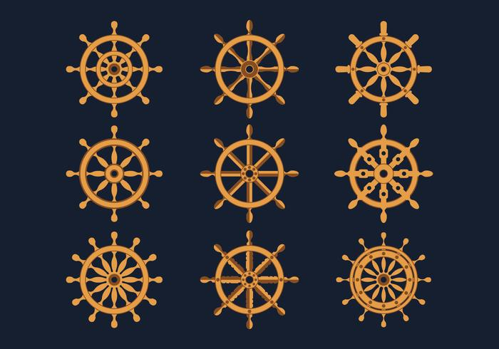 Ships Wheel Icons Collection