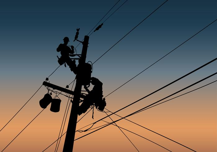 Lineman Silhouette Free Vector