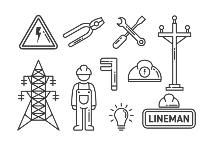 Lineman Icons Vector