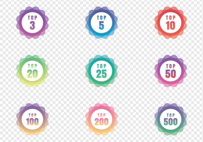 Moderne Top Chart Badges