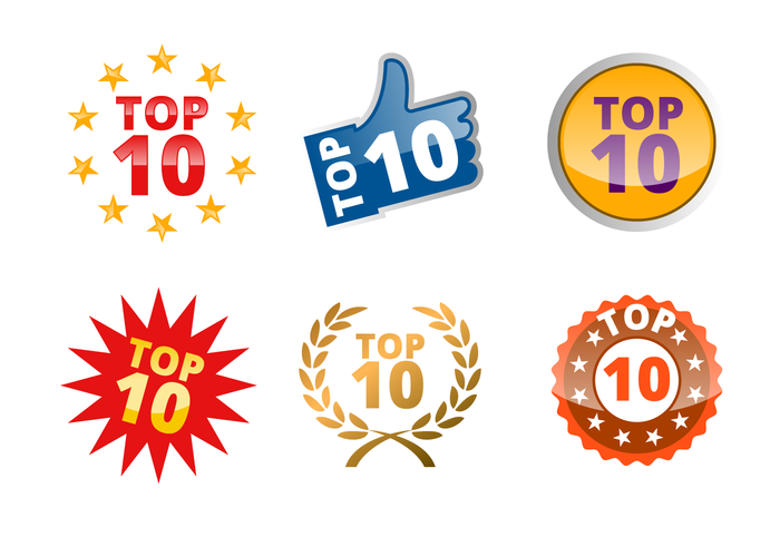 Top 10 Badge Vector