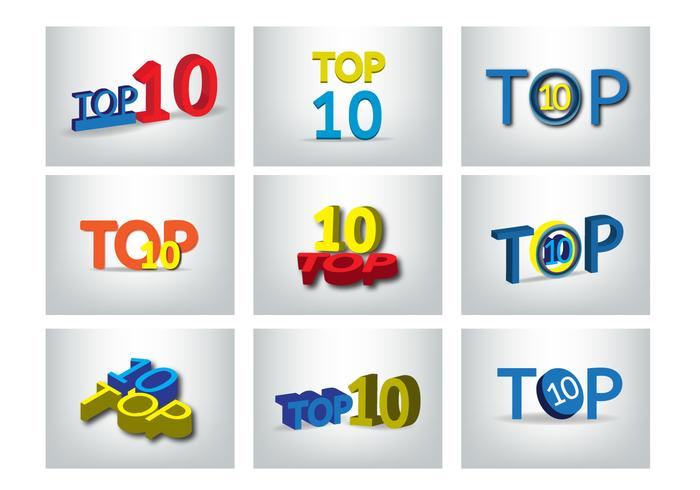 Top 10 Design Vector Set