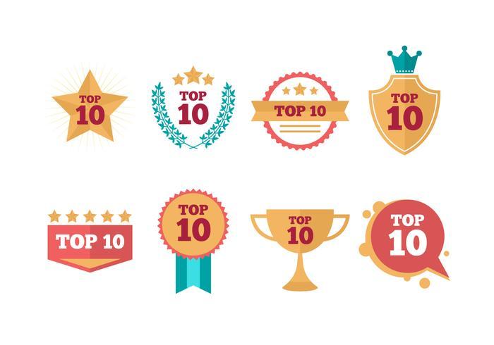 Free Top Ten Vector  Collection