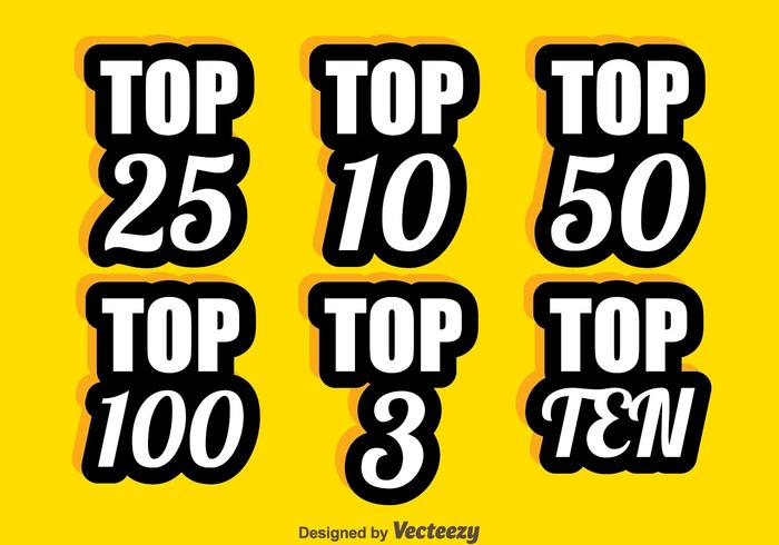 Top Chart Number Collection Vector