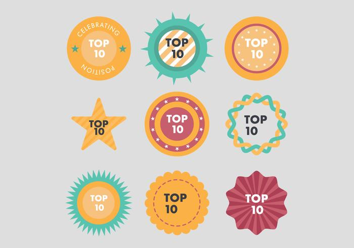 Top 10 Button Vectors