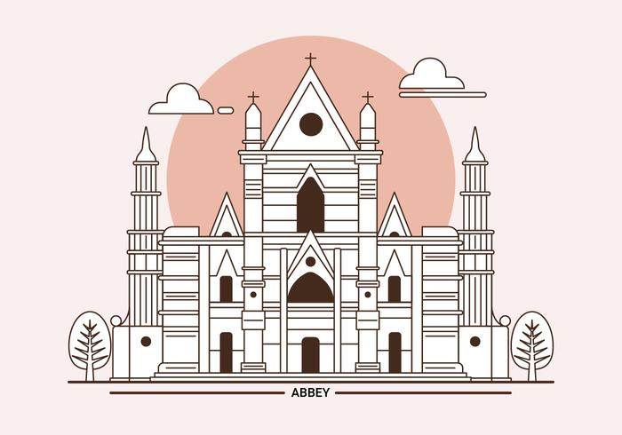 Westminster Abbey London Landmark Vector Illustration